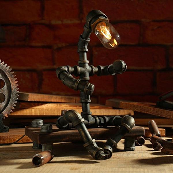 product image for Rustic Robot Industrial Pipe Lamp