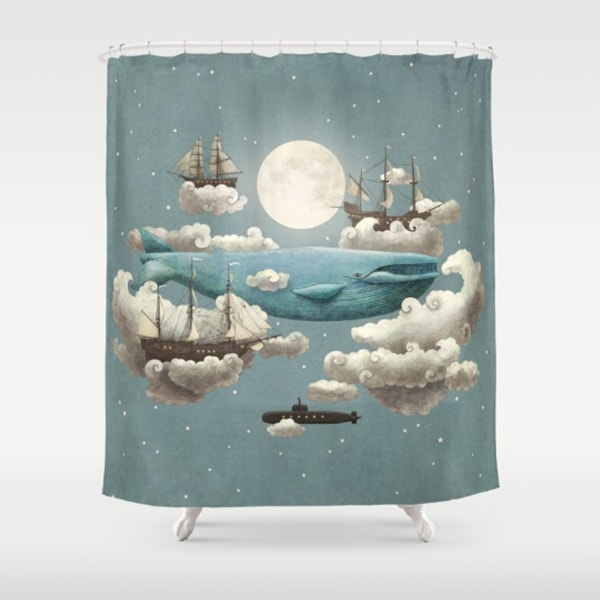 """product image for Moon Art Shower Curtains (71"""" x 74"""")"""