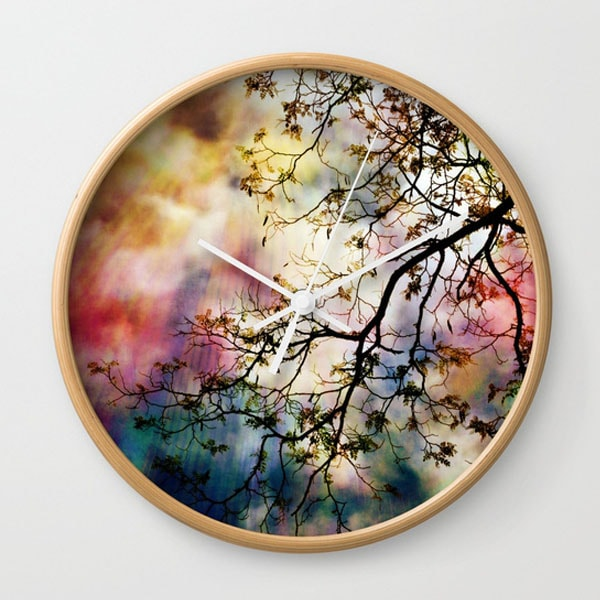 Wall Clock - the Tree of Many Colors