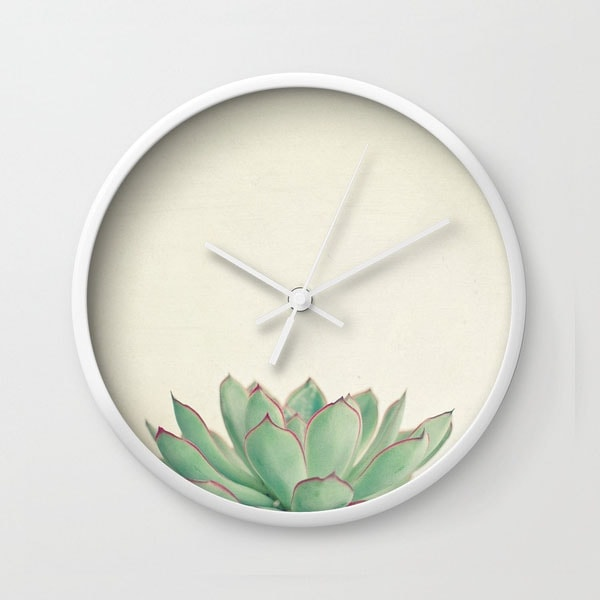 product image for Wall Clock - Echeveria
