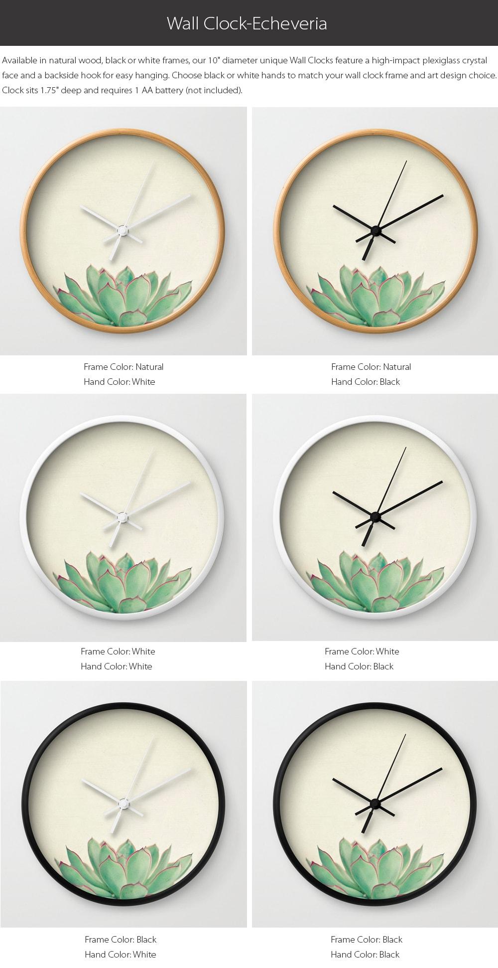 Wall Clock - Echeveria Design Special