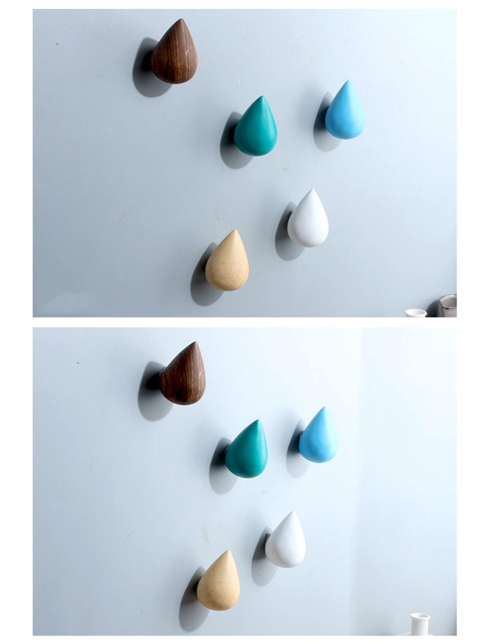 Raindrop Wall Hooks Whimsical Walls