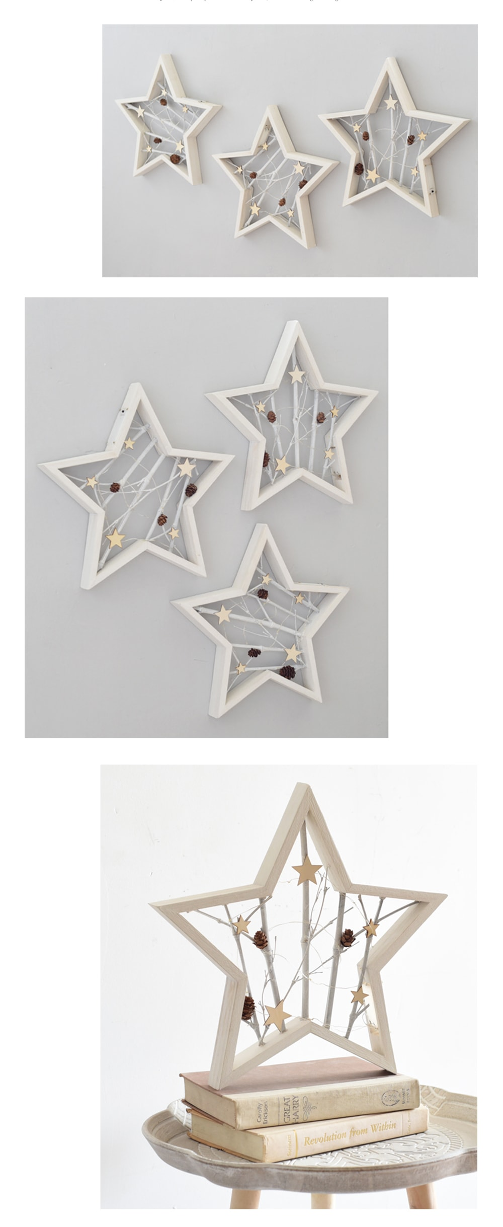 Star Shaped Wall Decor with LED Light Glowing Holiday Charm