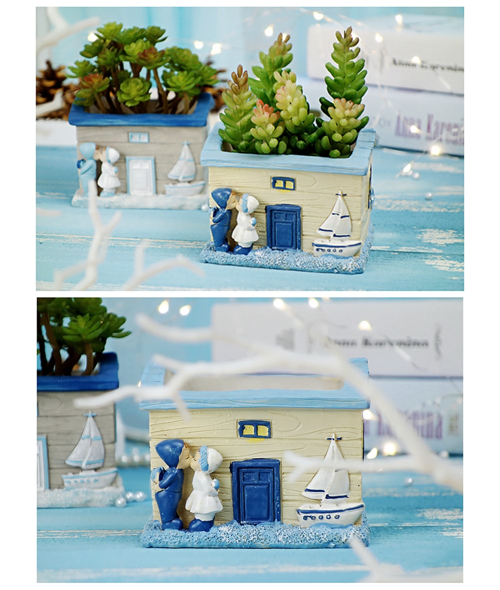 Nautical Style Planter Romantic Decoration