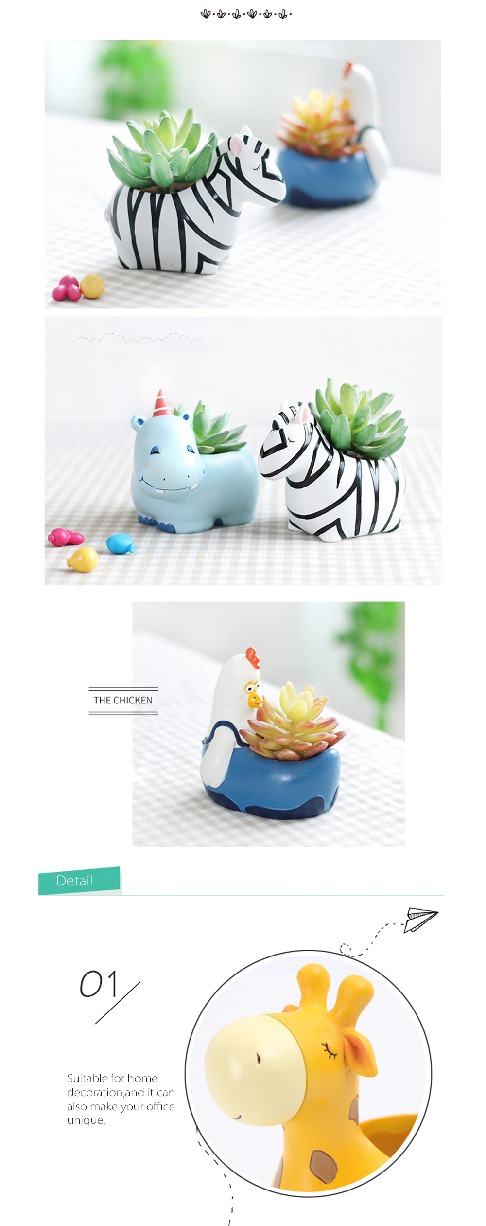 Cute Animal Planters Critter Pots With Dots