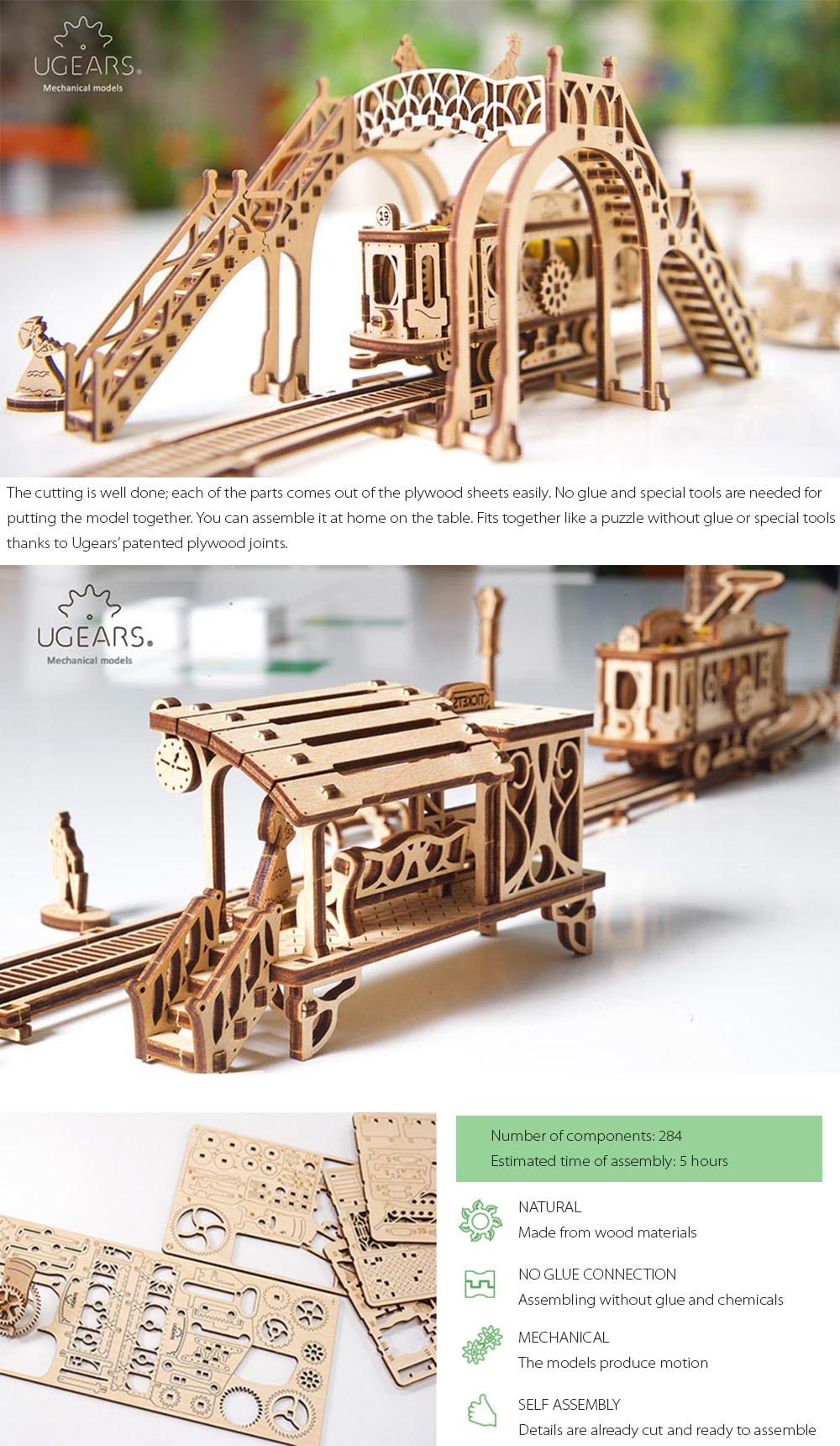Tram Line Model Mechanical Town Series