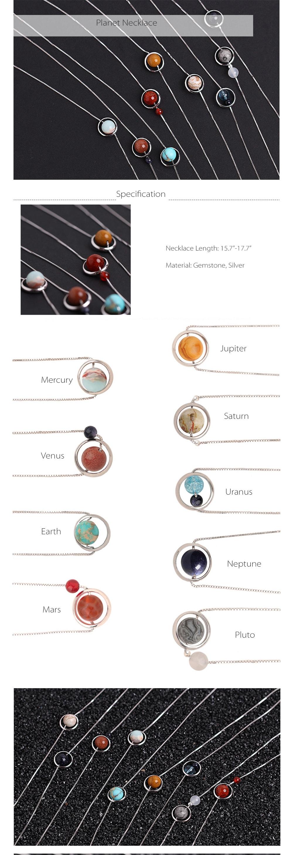 Planet Necklace Handmade Item