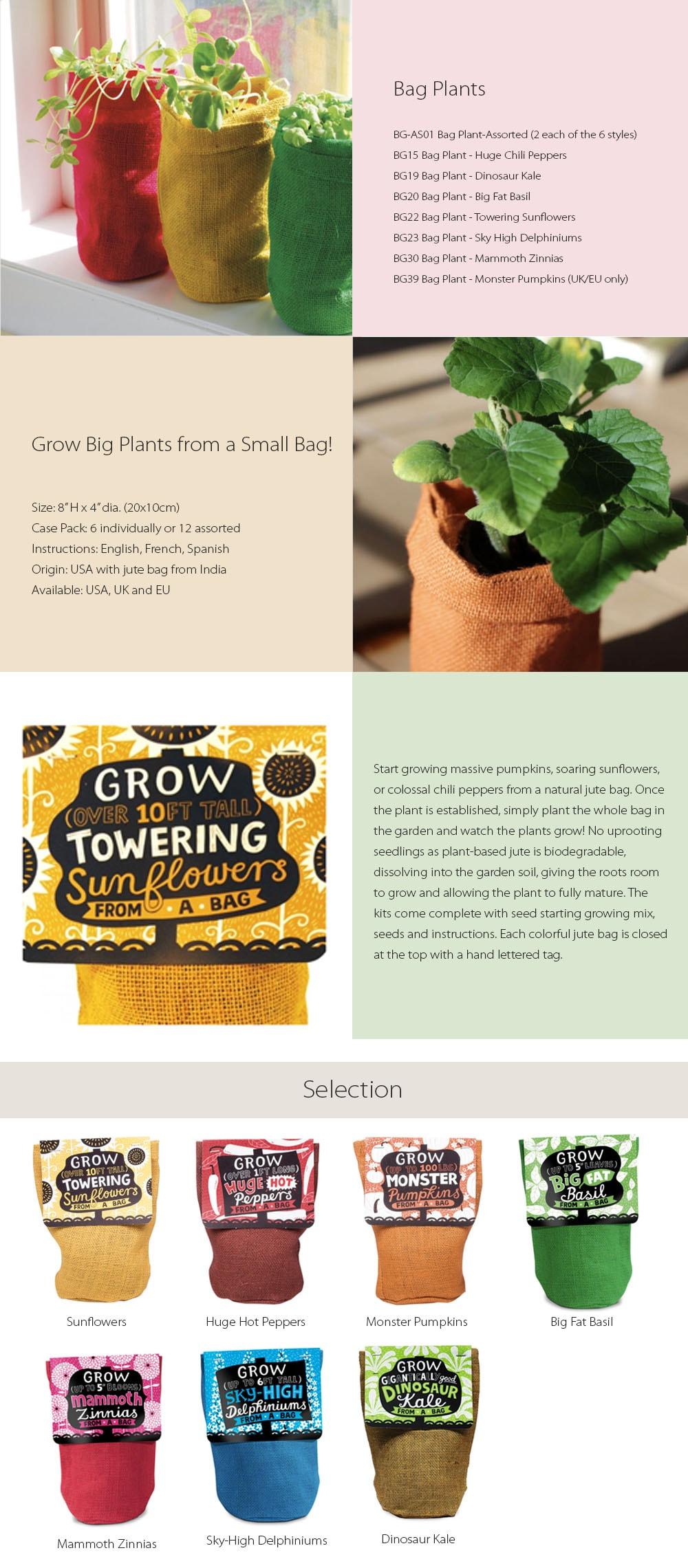 Bag Plants Grow Big Plants from Small Bags!