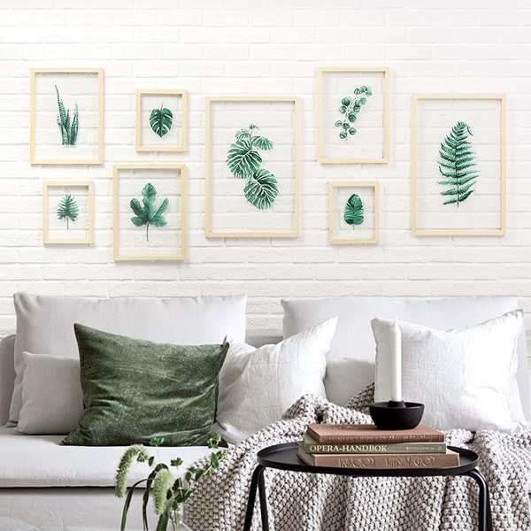 product image for Leaf on Glass Framed Wall Art