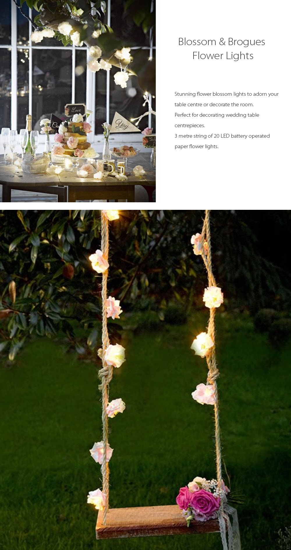 Blossom & Brogues Flower Lights Warm Your House