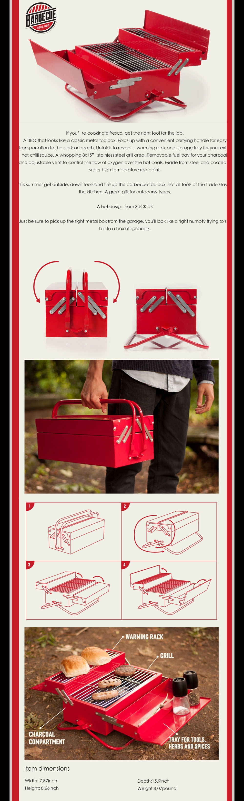 BBQ Toolbox A great gift for outdoorsy types