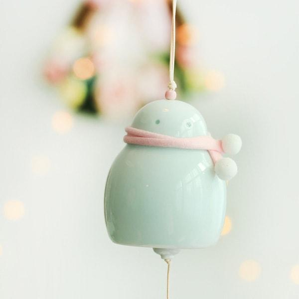 Ceramic Snowman Wind Bell