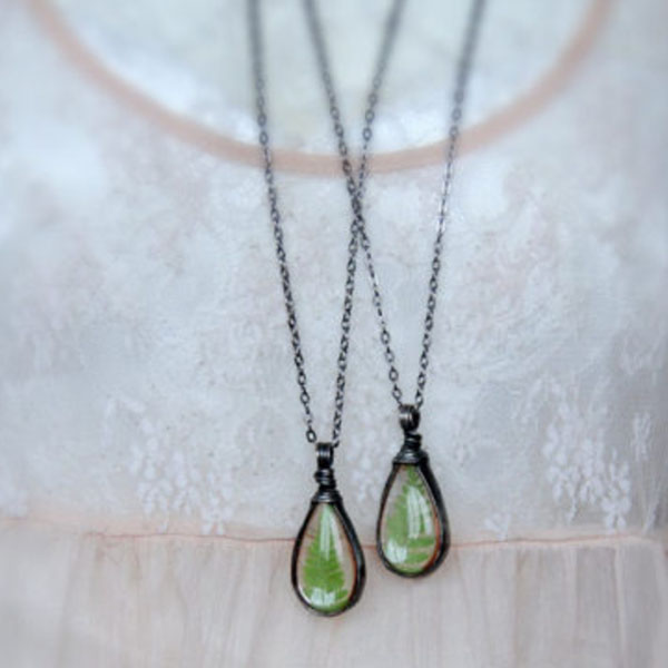 product image for Woodland Fern Necklace (Set of Two)
