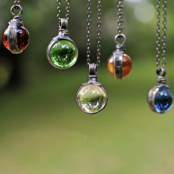 Glass Suncatcher Necklace