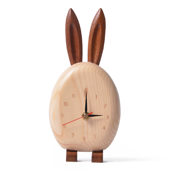 product image for Wooden Animal Desk Clock
