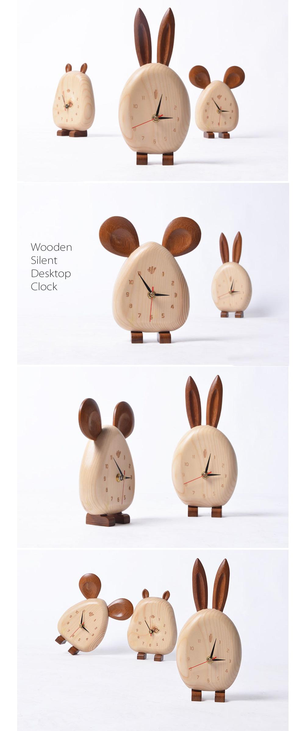 Wooden Silent Desktop Clock Wooden Silent Desktop Clock