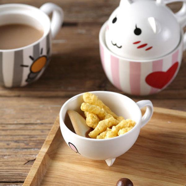 Kawaii Kitty Mug Set