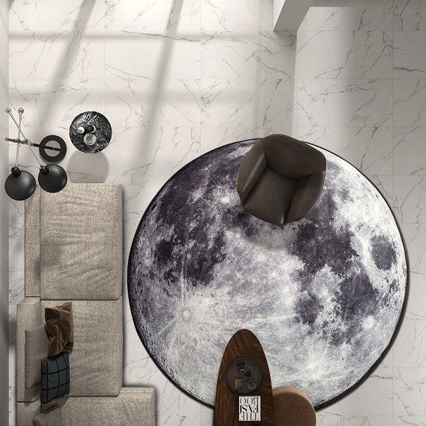 product image for 3D Moon Or Earth Area Rug