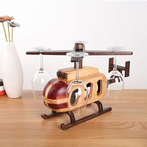 product thumbnail image for Helicopter Wine Glass Bottle Rack