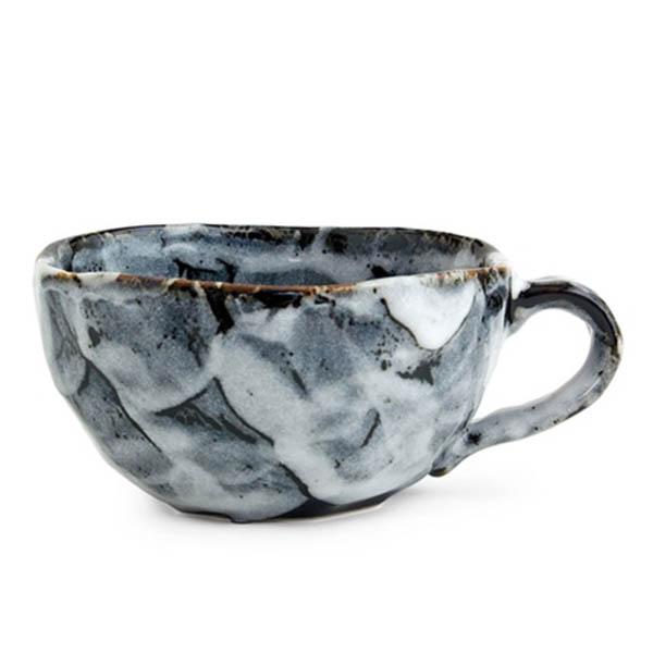 Japanese Boulder Mug - Black  (LIMIT STOCK)
