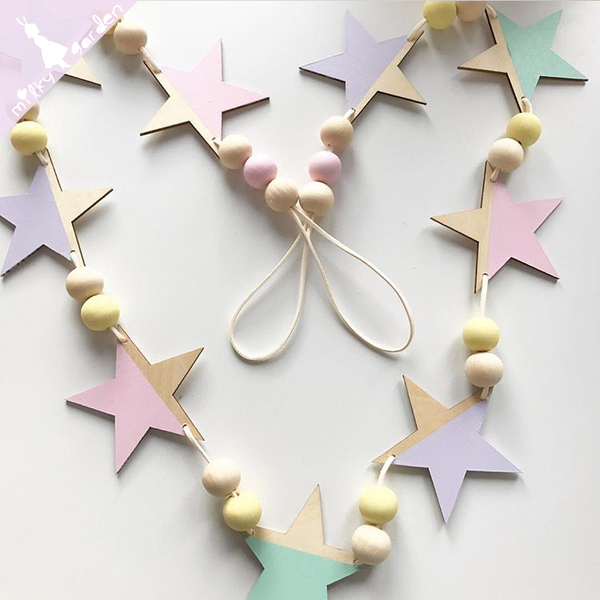Starry Night Wood Garland