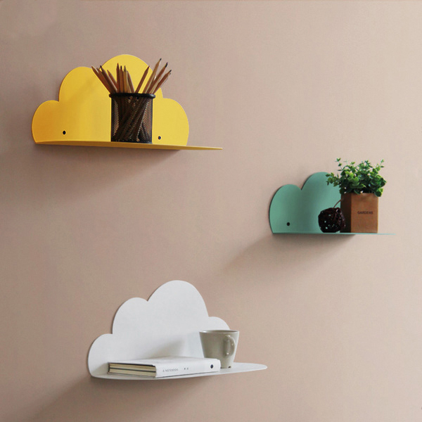 Metal Cloud Wall Shelf
