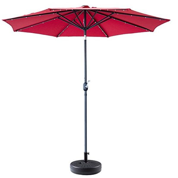 Red Patio Umbrellas