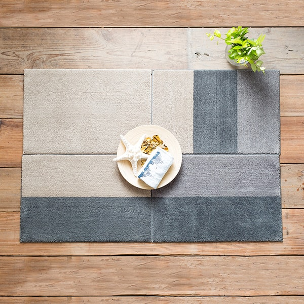 Color Block Floor Mat