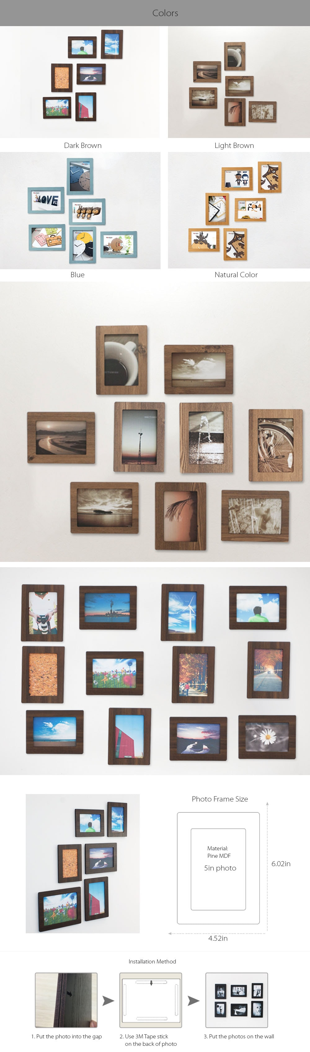 6 Piece Photo Frame Set Apollobox