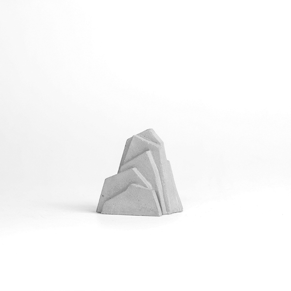 Concrete Mountain Bookends