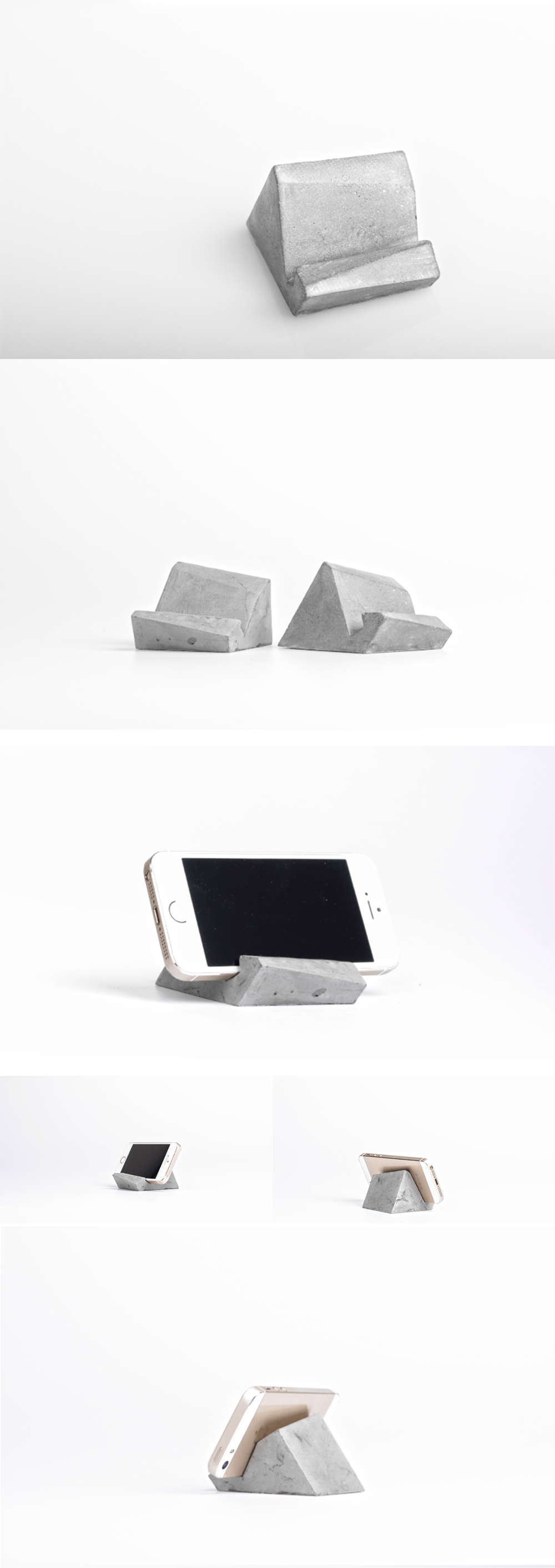 Concrete Phone Stand Free your hands