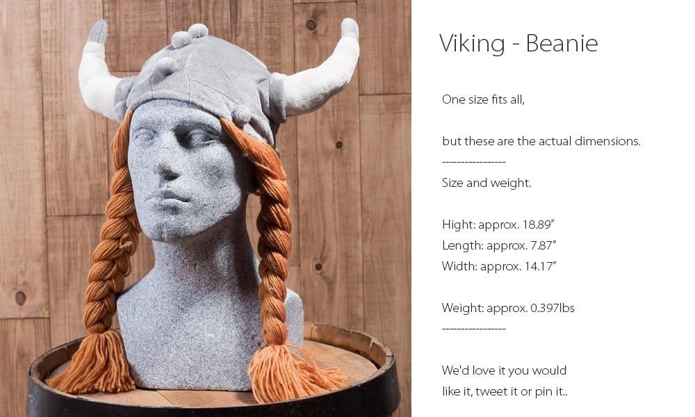 Viking Beanie One Size Fits All