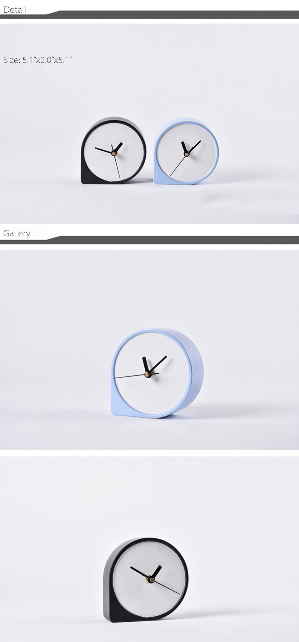 Comma Shaped Desk Clock Minimalist