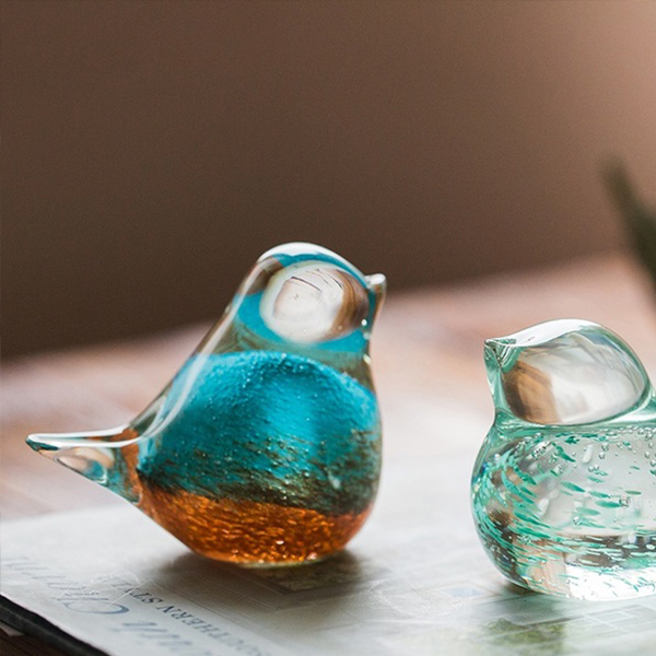 INOpets.com Anything for Pets Parents & Their Pets Handmade Art Glass Birds
