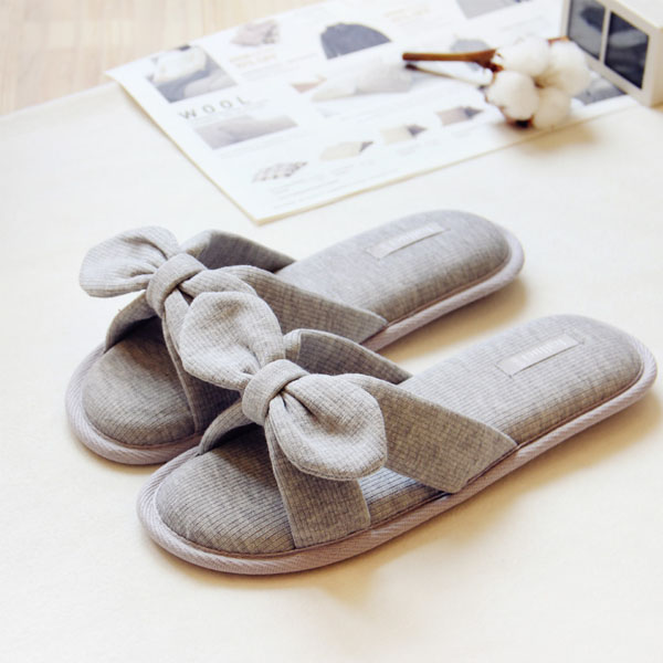 Japanese Bow Slippers
