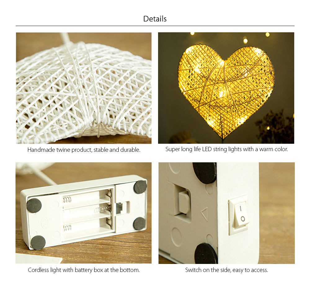 LED Star and Heart Twine Light Great Addition To Your Home Decor