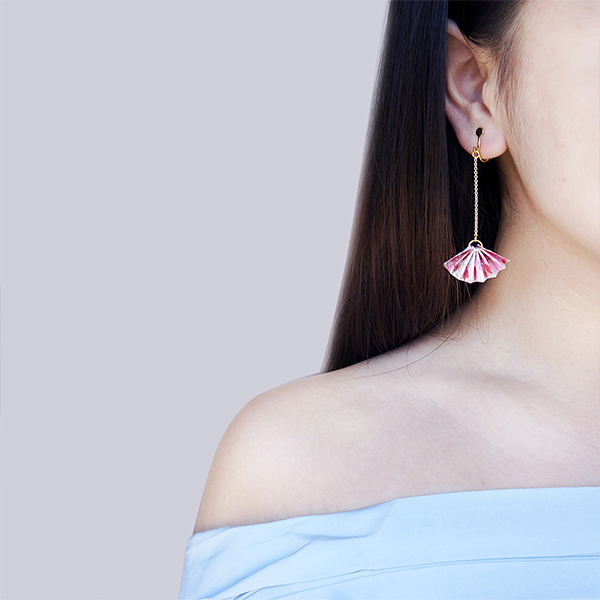 product image for Sakura Fan Earring-Single