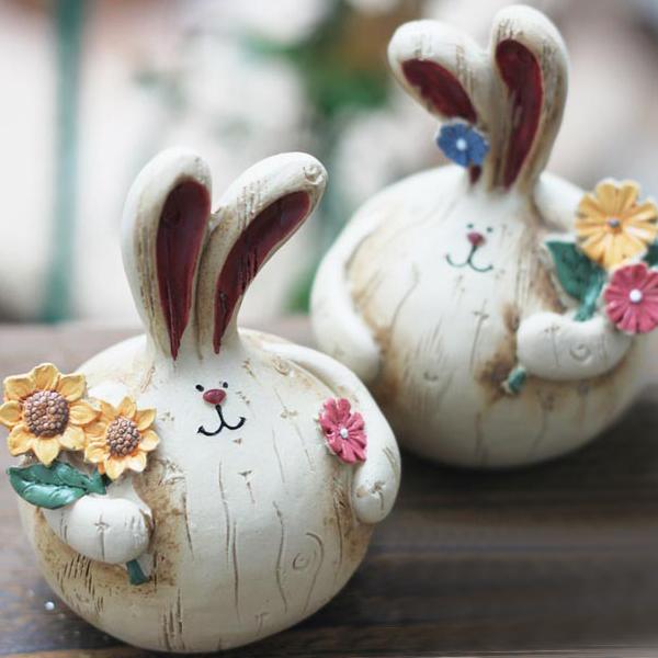 product image for Bunny Couple Figurine Set