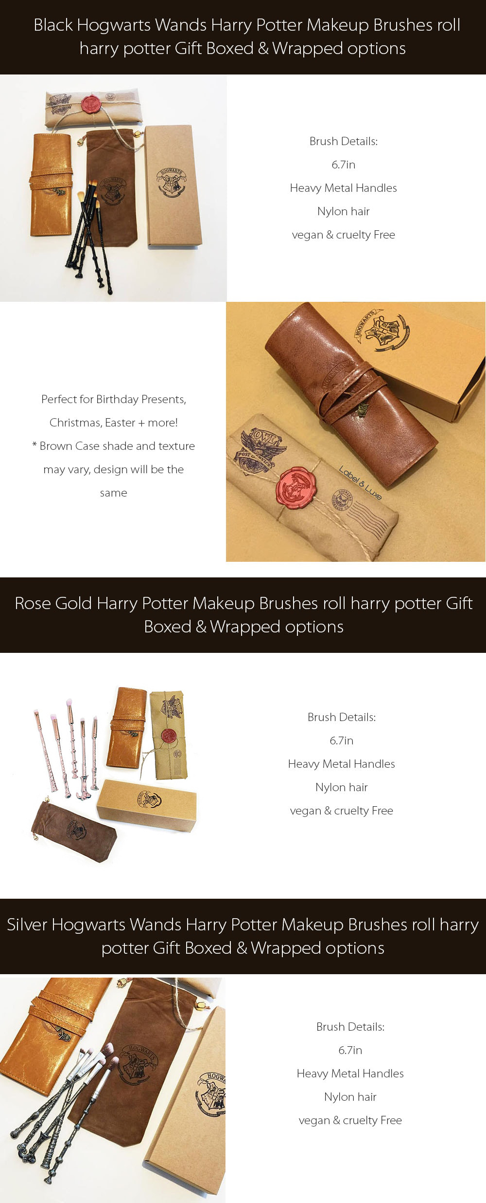 Hogwarts Wands Makeup Brushes Harry Potter Collections