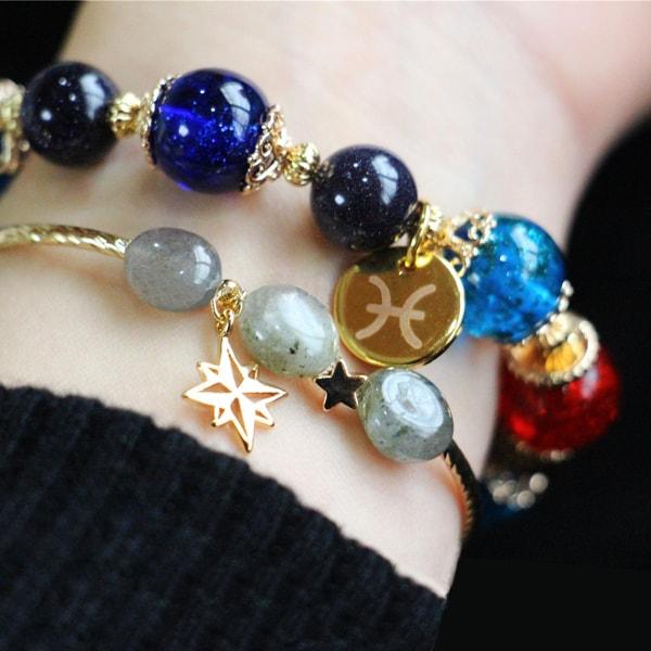 Zodiac Stacked Bracelets