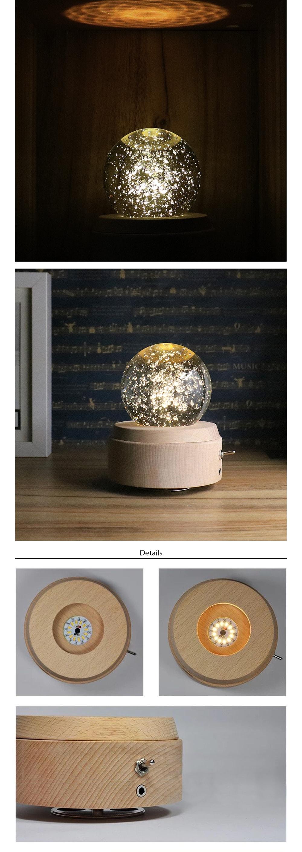 Rotating Music Box Moon Collectioin