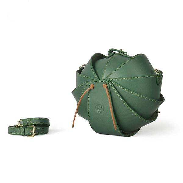 Leather Ball Handbag
