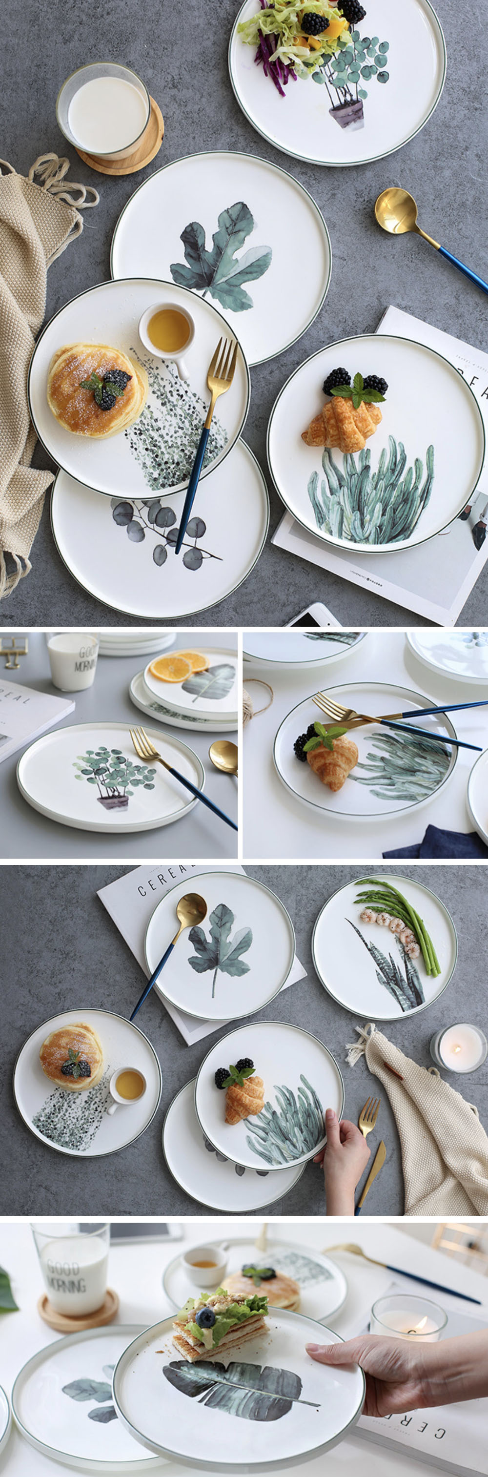 Plant Plate Handcrafted Dinnerware