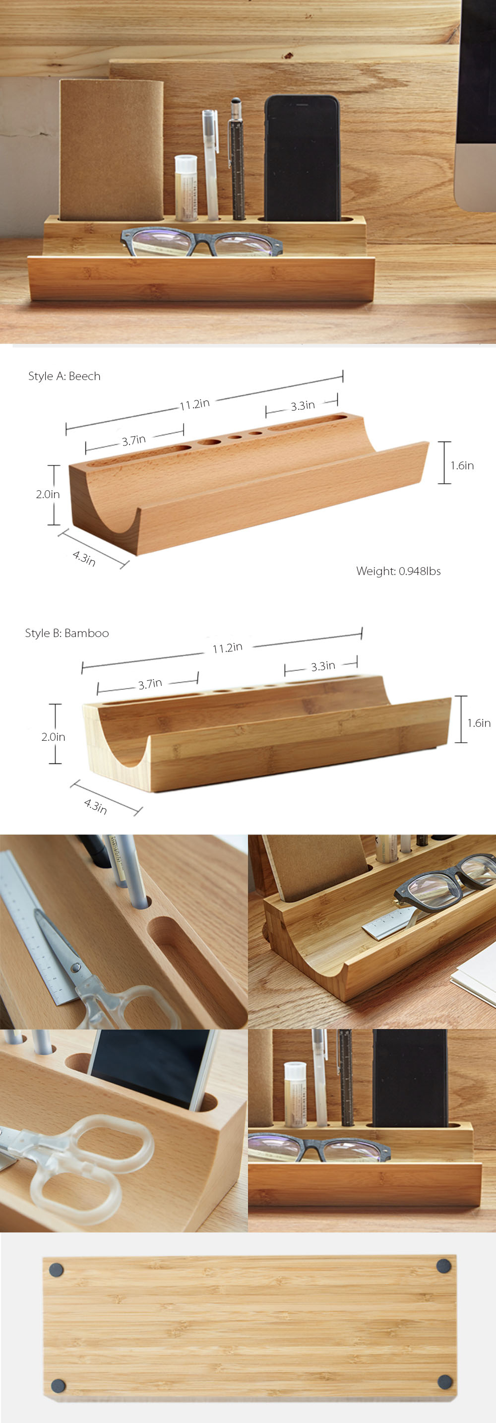 Office Storage Box Classic Solid Wood Style