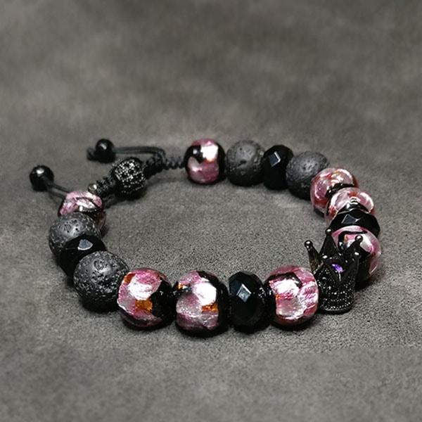 Amethyst Crown Bracelet