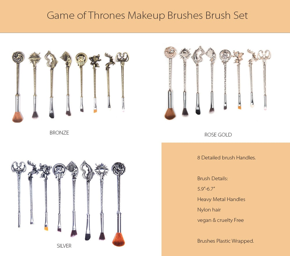 Game of Thrones Makeup Brush Set Handmade