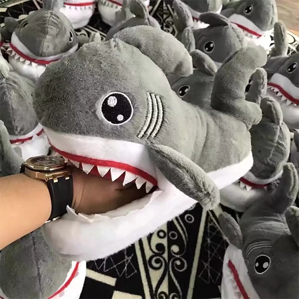 product image for Shark Plush Slippers