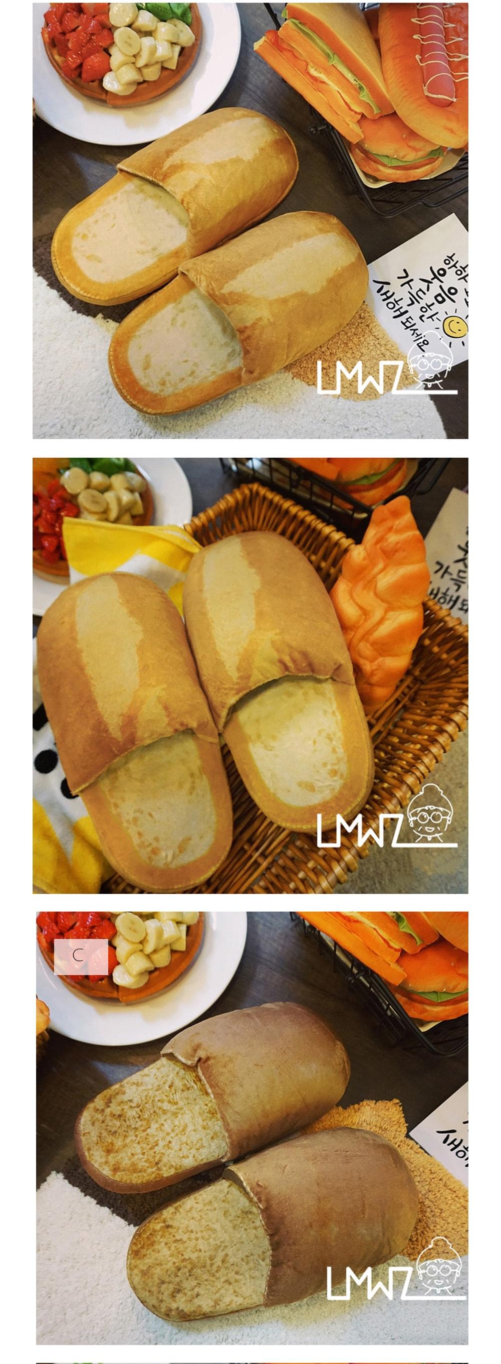 Toast Bread Slipper Slide On Comfort