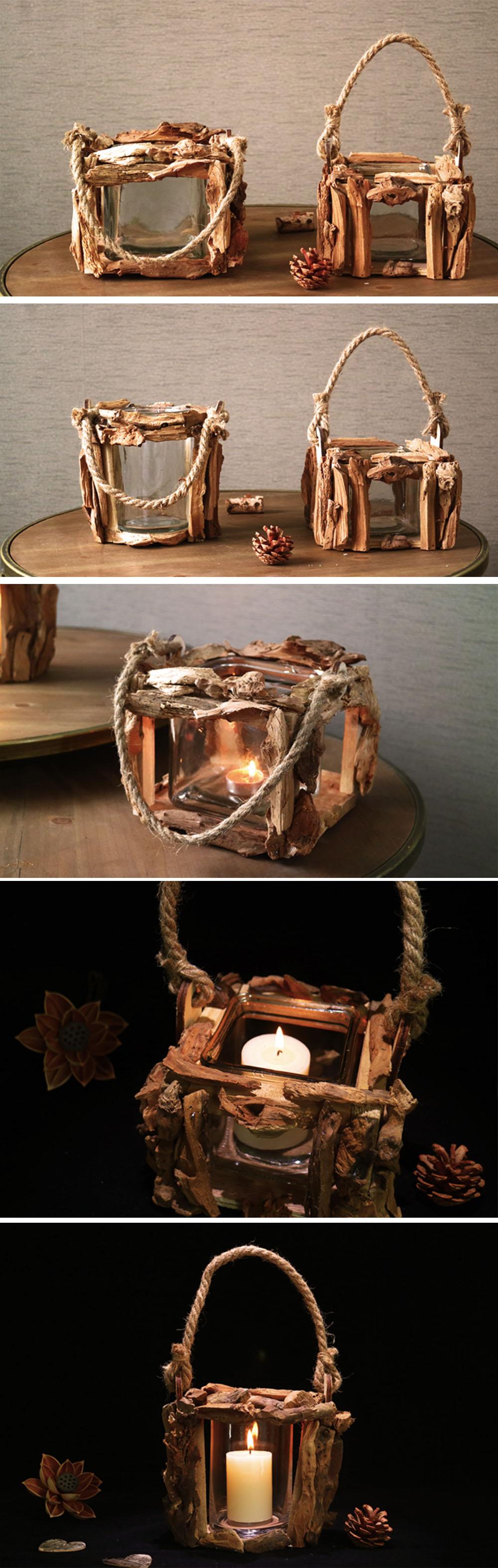 Handmade Candle Holder Vintage Style