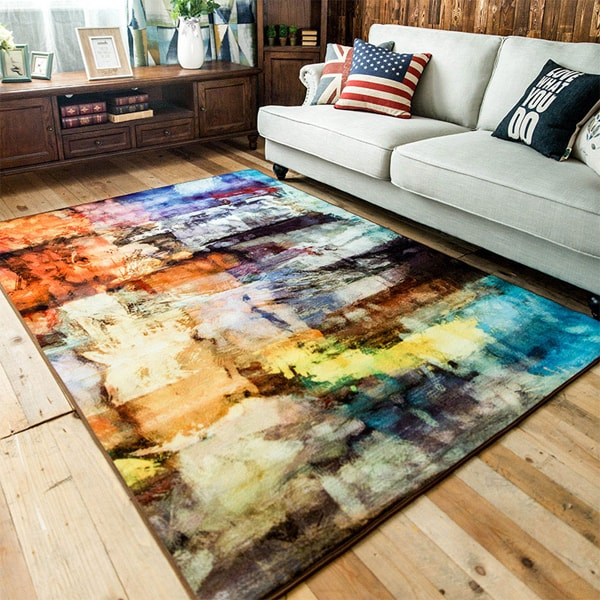 Abstract Accent Rug